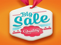 creative big sale lable vector
