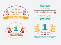 Creative anniversary label vector